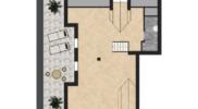 Pianta Mansarda Appartamento 7)