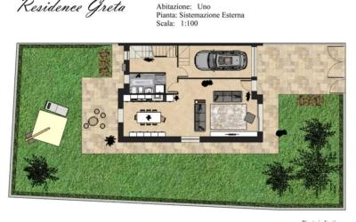 Sistemazione Esterna Residence Greta